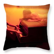 The Girl And The Ghost Throw Pillow by Semmick Photo