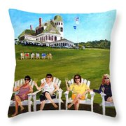 The Girls At Castle Hill Throw Pillow