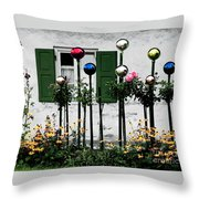 The Glass Balls Throw Pillow