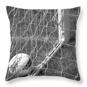 The Golden Goal Throw Pillow