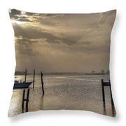 The Golden Hour II Throw Pillow