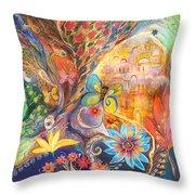 The Golden Jerusalem Throw Pillow