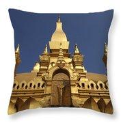The Golden Palace Laos Throw Pillow