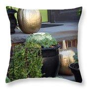 The Golden Pumpkins Throw Pillow