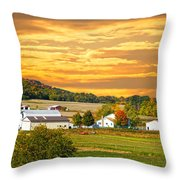 The Golden Ranch Throw Pillow