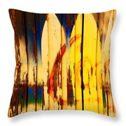 The Good Old Days Of Surfing Throw Pillow