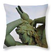 The Goose Strangler Throw Pillow