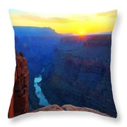 The Grand Canyon Solitude At Toroweap Throw Pillow
