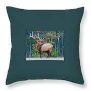 The Grand Elk Throw Pillow