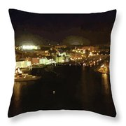 The Grand Harbour Of Malta Throw Pillow