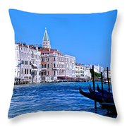 The Grand Of Venice Throw Pillow