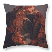 The Grand Teton At Sunrise Throw Pillow