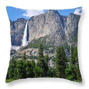 The Grandeur Of Yosemite Falls Throw Pillow
