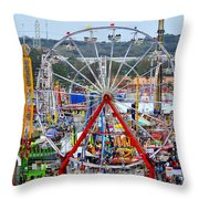 The Great American Midway Throw Pillow