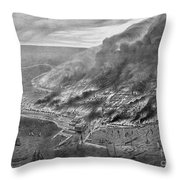 The Great Chicago Fire, 1871 Throw Pillow