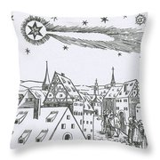 The Great Comet Of 1556 Throw Pillow