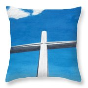 The Great Cross - Risen Throw Pillow