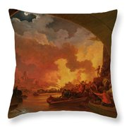 The Great Fire Of London Throw Pillow