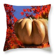 The Great Pumpkin And October Colors Throw Pillow