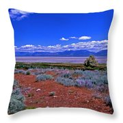 The Great Salt Lake From Antelope Island Throw Pillow