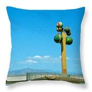 The Great Salt Lake Utah Throw Pillow