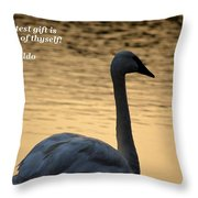 The Greatest Gift Throw Pillow