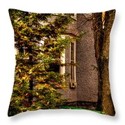 The Green Bench Throw Pillow