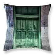 The Green Door In The French Quarter Throw Pillow