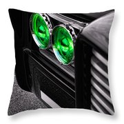 The Green Hornet - Black Beauty Close Up Throw Pillow
