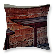 The Group W Bench Throw Pillow
