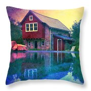 The Guest Cottage Throw Pillow by Kevyn Bashore