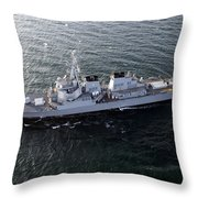 The Guided-missile Destroyer Uss Laboon Throw Pillow