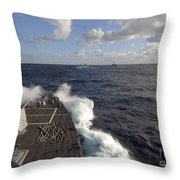 The Guided-missile Destroyer Uss Nitze Throw Pillow