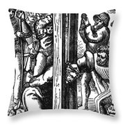 The Guillotine, 18th Century Throw Pillow by Science Source