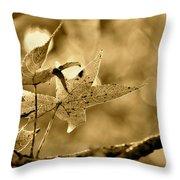 The Gum Leaf Throw Pillow