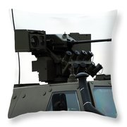 The Gun Mounted On Top Of The Dingo II Throw Pillow