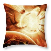The Hand Of Destiny Nebula Is Devouring Throw Pillow