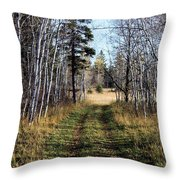 The Happy Path Throw Pillow