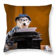The Hard Boiled Journalist Throw Pillow