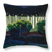 The Hardanger Fjord By Night. Throw Pillow