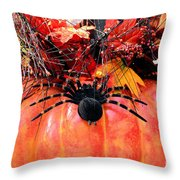 The Harvest Spider Throw Pillow