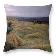 The Harvesters Svinklov Viildemosen Jutland Throw Pillow