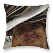 The Hat Lady Costa Rica Throw Pillow