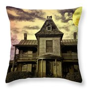 The Haunted Mansion Throw Pillow by Bill Cannon