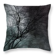 The Haze Of The Moon Throw Pillow