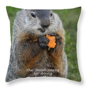 The Heart Earns By Trying Throw Pillow