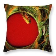 The Heart Of A Snake Throw Pillow