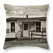 The Heart Of Glady Sepia Throw Pillow