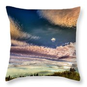 The Heavy Clouds Throw Pillow