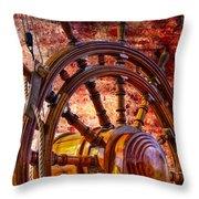 The Helm Throw Pillow by Debra and Dave Vanderlaan